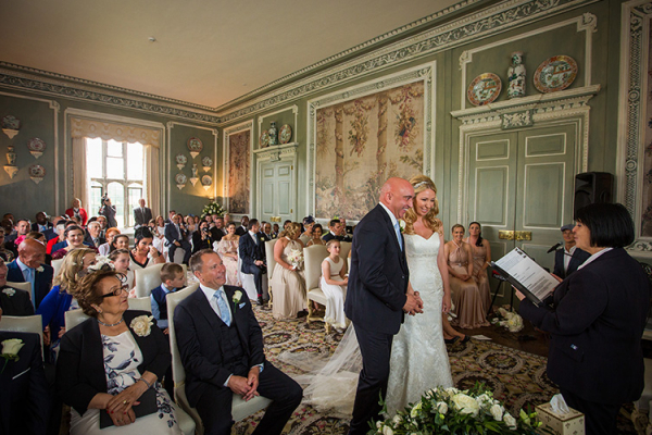 A wedding ceremony taking place at Leeds Castle wedding venue in Kent | CHWV