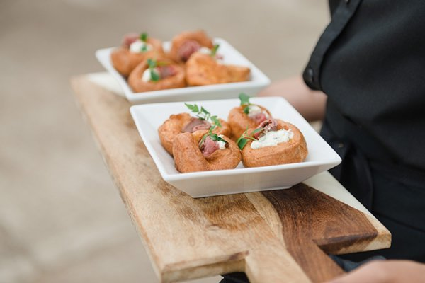 Reception canapes at Lillibrooke Manor wedding venue in Berkshire | CHWV