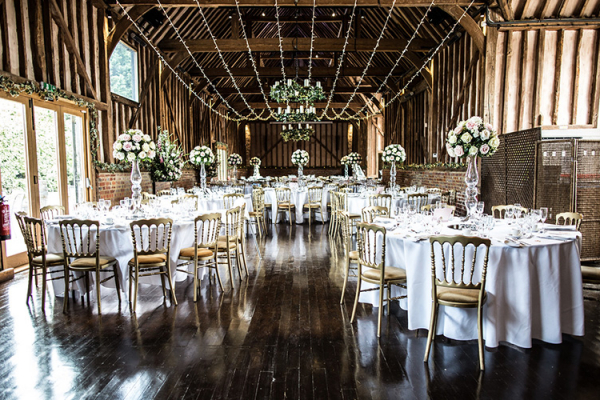 Wedding Breakfast Setup at Lillibrooke Manor | Wedding Venues Berkshire