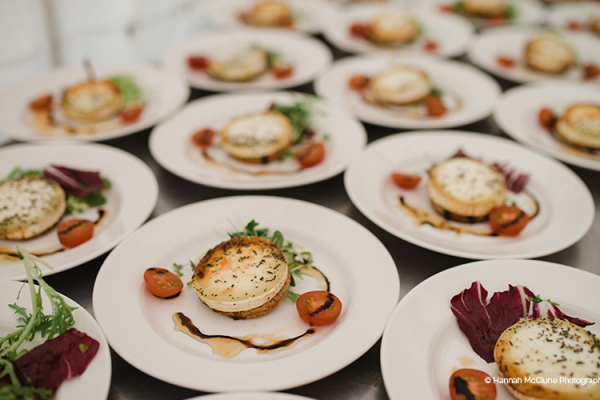 Food served at Lillibrooke Manor wedding venue in Berkshire | CHWV