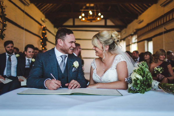 Signing the Register at Lillibrooke Manor | Wedding Venues Berkshire