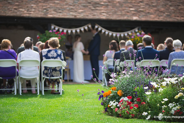 Outdoor Wedding Ceremony at Lillibrooke Manor | Wedding Venues Berkshire