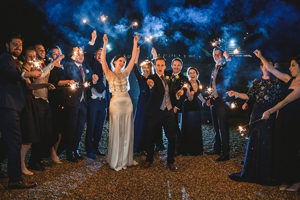 Sparklers at Lillibrooke Manor | Wedding Venues Berkshire