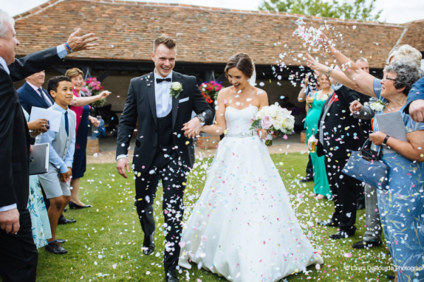 Confetti Shot at Lillibrooke Manor | Wedding Venues Berkshire