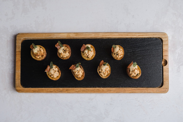 Delicious canapes at Lillibrooke Manor wedding venue in Berkshire | CHWV
