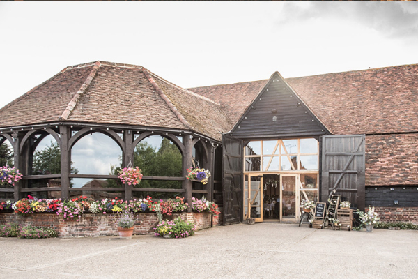 Barn Exterior at Lillibrooke Manor | Wedding Venues Berkshire