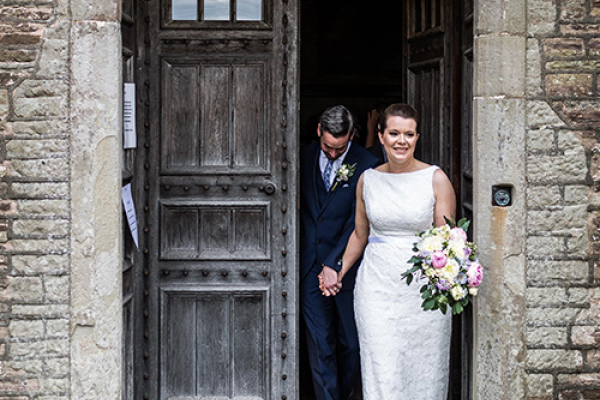 Just married at Llanvihangel Court wedding venue in Monouthshire | CHWV