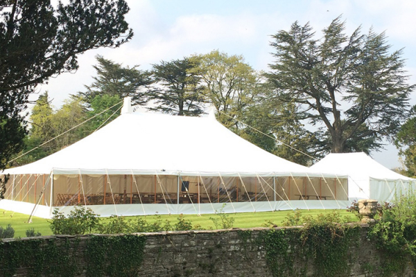 The marquee at Llanvihangel Court wedding venue in Monouthshire | CHWV