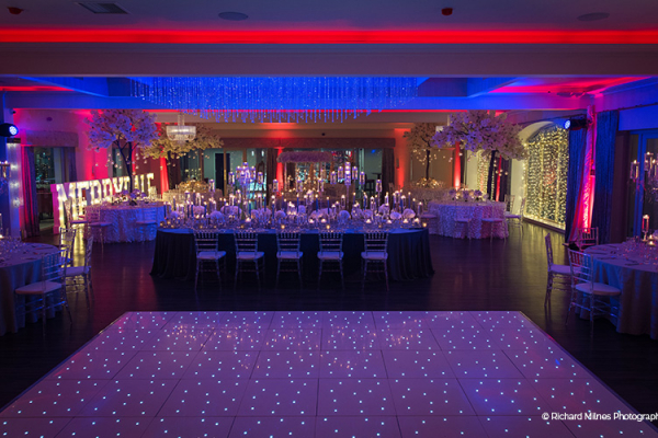 Set up for an evening reception at Merrydale Manor wedding venue in Cheshire | CHWV