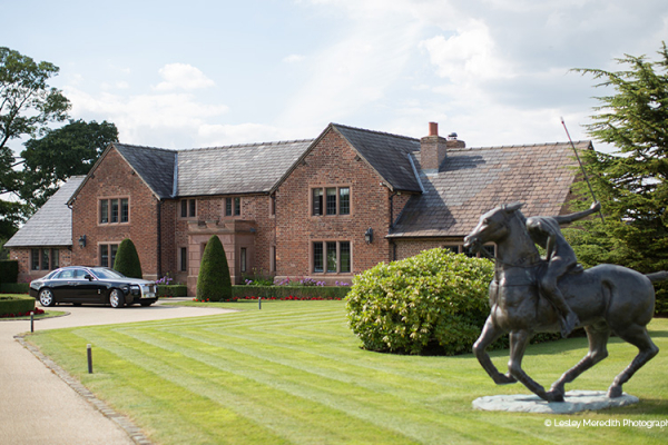 The front of the manor at Merrydale Manor wedding venue in Cheshire | CHWV