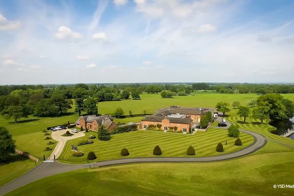 An aerial view of Merrydale Manor wedding venue in Cheshire | CHWV