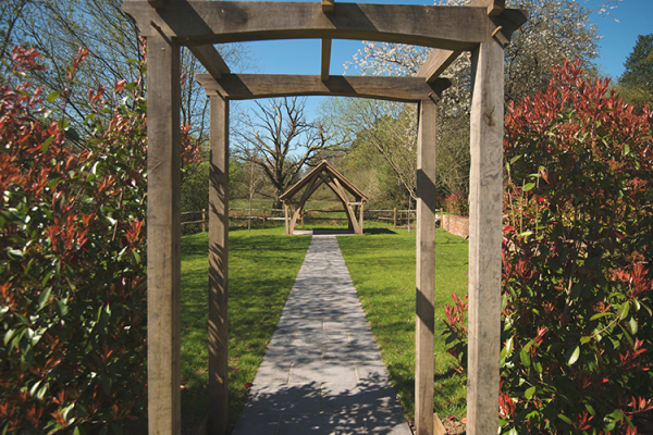 The glorious grounds at Millbridge Court wedding venue