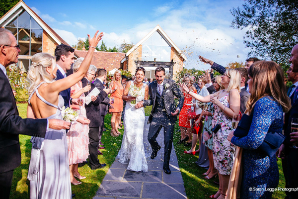A happy couple just married at Millbridge Court in Surrey