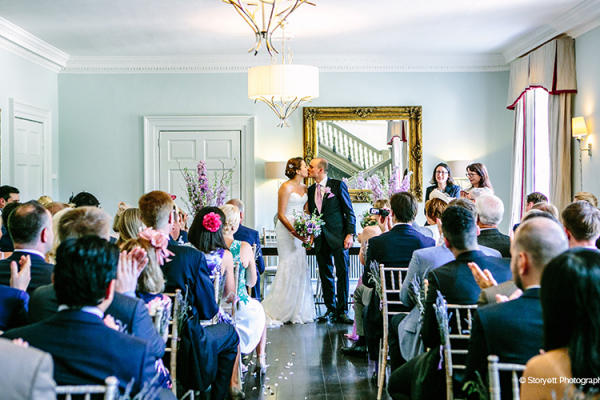 Just married at Morden Hall country house wedding venue in London | CHWV
