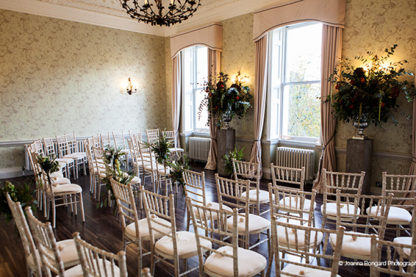 Set up for a wedding ceremony at Morden Hall country house wedding venue in London | CHWV