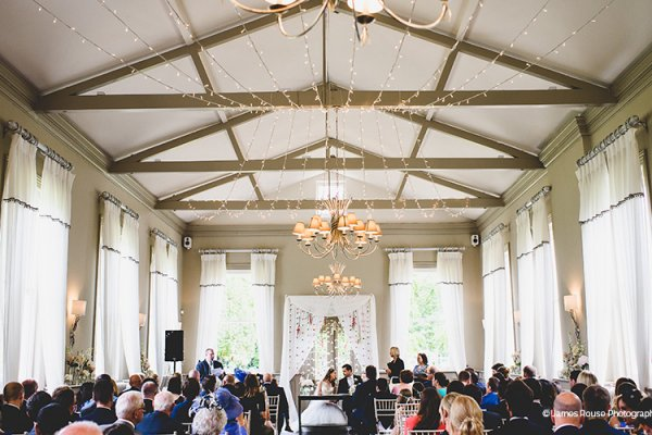 A romantic wedding ceremony at Morden Hall country house wedding venue in London | CHWV