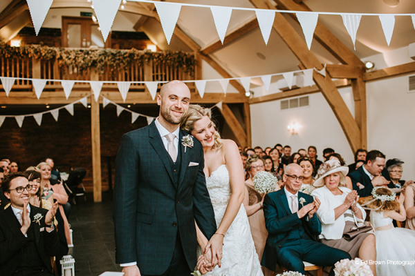 Just married at Mythe Barn wedding venue in Leicestershire | CHWV