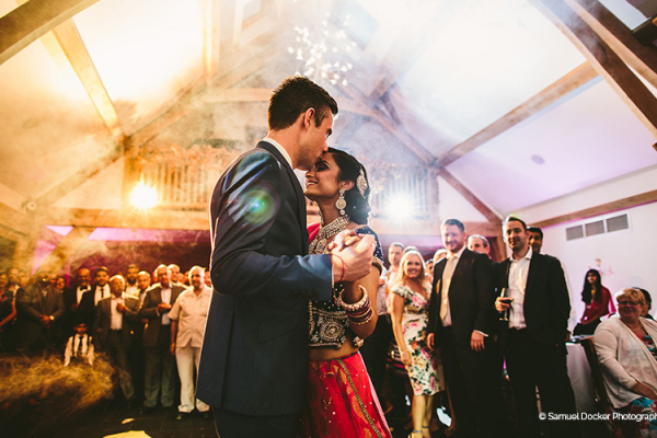Romantic first dance at Mythe Barn wedding venue in Leicestershire | CHWV