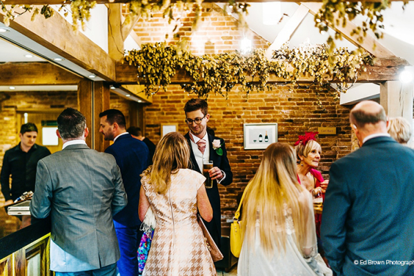 Drinks reception at Mythe Barn in Leciestershire
