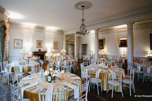 Set up for a wedding breakfast at North Cadbury Court wedding venue in Somerset | CHWV