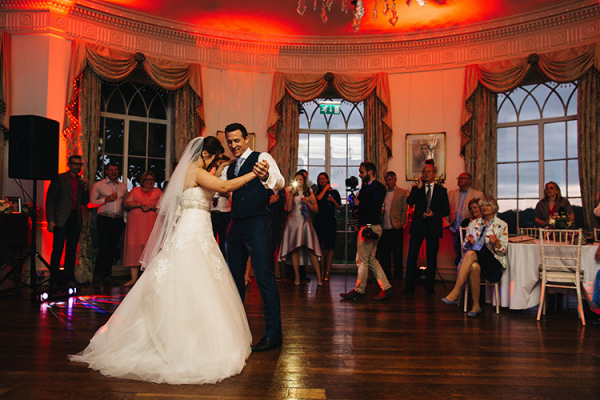 A couples romantic first dance at North Cadbury Court wedding venue in Somerset | CHWV