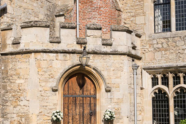 The entrance at Notley Abbey wedding venue in Buckinghamshire | CHWV
