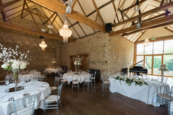 Set up for a wedding reception at Notley Abbey wedding venue in Buckinghamshire | CHWV