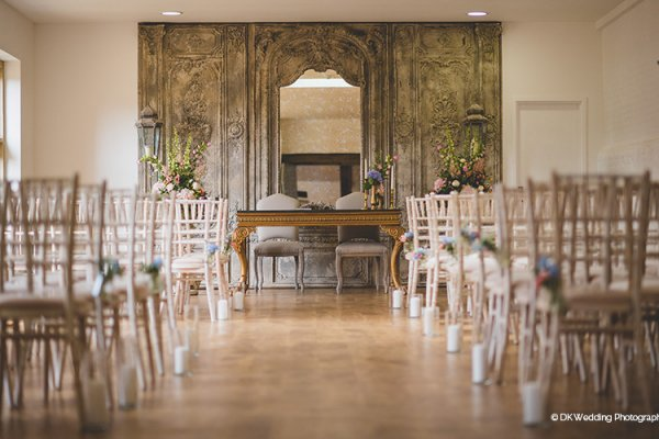 Set up for a wedding ceremony at Oxnead Hall wedding venue in Norfolk | CHWV