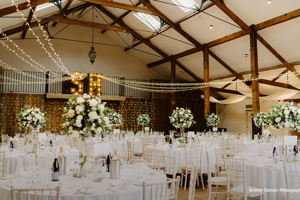 Set up for a wedding breakfast at Oxnead Hall wedding venue in Norfolk | CHWV