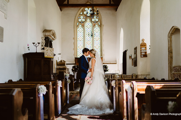 Marry in the church on site at Oxnead Hall wedding venue in Norfolk | CHWV