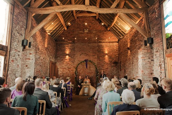 A wedding ceremony at Packington Moor