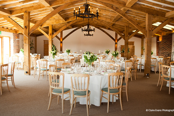 Packington Moor set up for a wedding reception