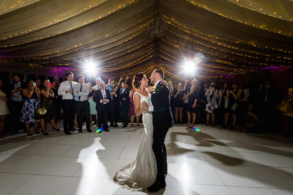 A couples romantic first dance at Parklands wedding venue in Essex | CHWV