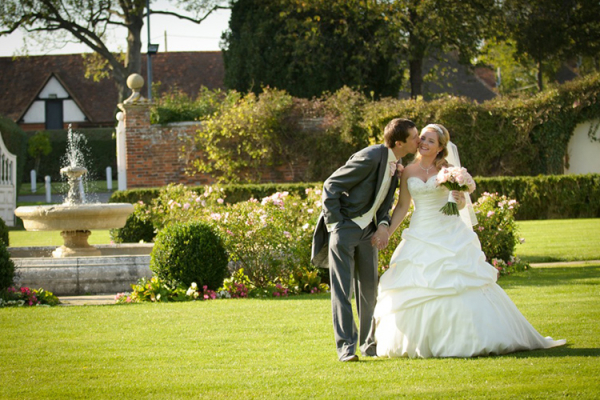 A happy couple in the grounds at Parklands