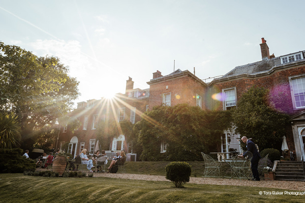 Guests on the Terrace at Pelham House | Wedding Venues East Sussex