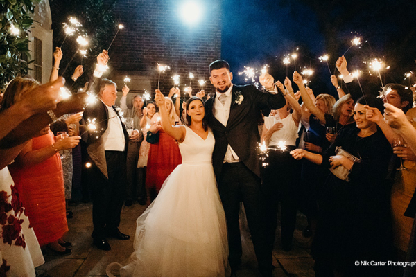 Sparklers at Pelham House | Wedding Venues East Sussex