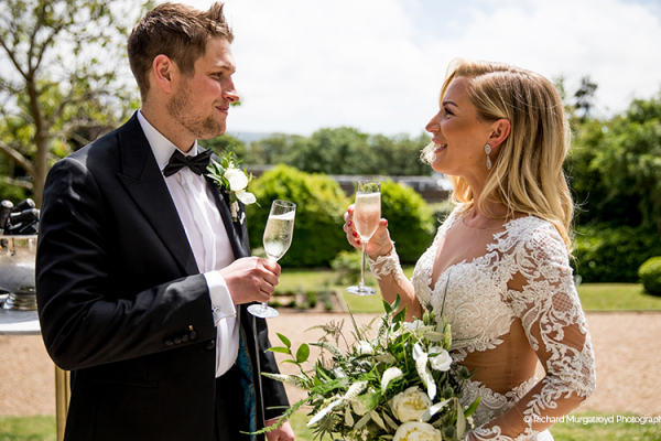 Drinks on the Terrace at Pelham House | Wedding Venues East Sussex