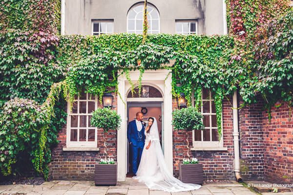 Newlyweds at Pelham House | Wedding Venues East Sussex