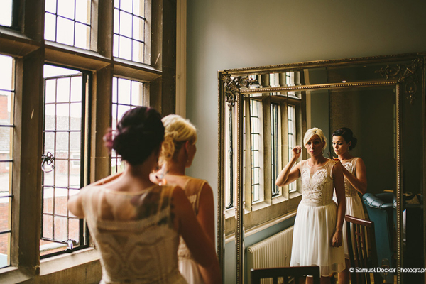Bride getting ready at Pendrell Hall wedding venue in Staffordshire | CHWV