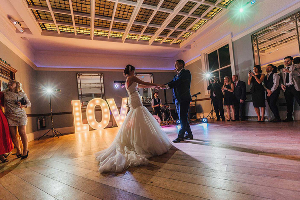 First dance in The Ballroom at Pendrell Hall wedding venue in Staffordshire | CHWV