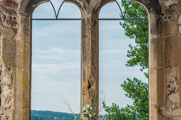 A window in The Gatehouse at Pentney Abbey wedding venue in Norfolk | CHWV