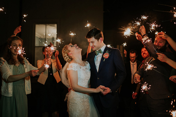 A sparkler send off at Penton Park wedding venue in Hampshire | CHWV