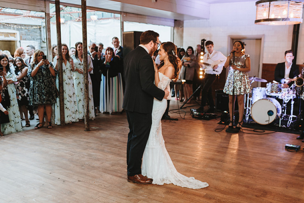 Romantic first dance at Plas Dinam country house wedding venue in Carmarthenshire | CHWV