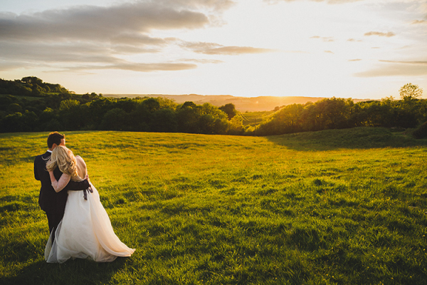 A happy couple enjoying the views from River Cottage