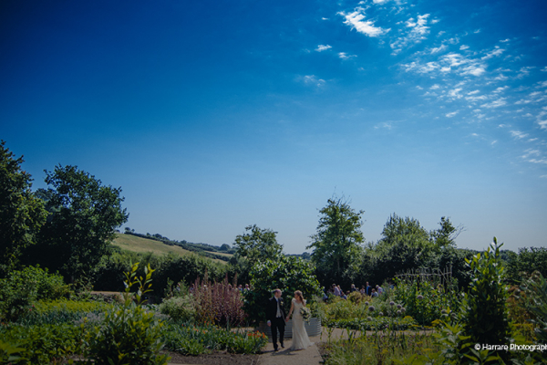 The beautiful grounds at River Cottage