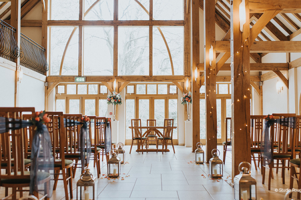 Ceremony at Rivervale Barn | Wedding Venues Hampshire