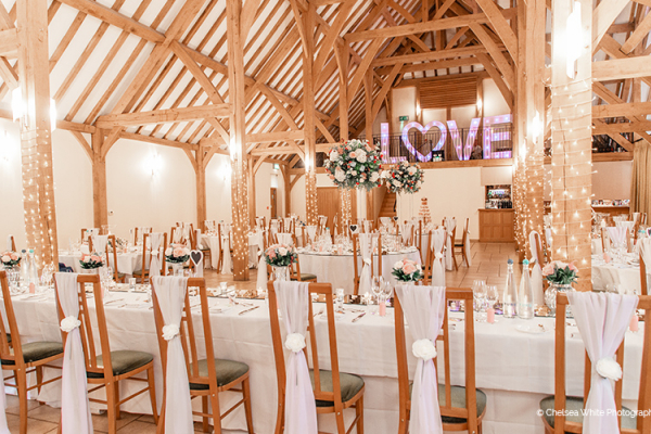 Reception at Rivervale Barn | Wedding Venues Hampshire