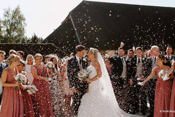 Confetti at Rivervale Barn | Wedding Venues Hampshire