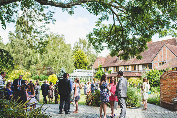 Drinks Reception at Rivervale Barn | Wedding venues Hampshire