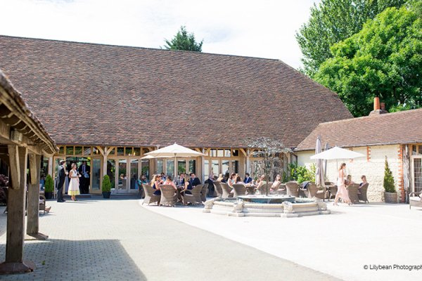 Courtyard at Rivervale Barn | Wedding venues Hampshire